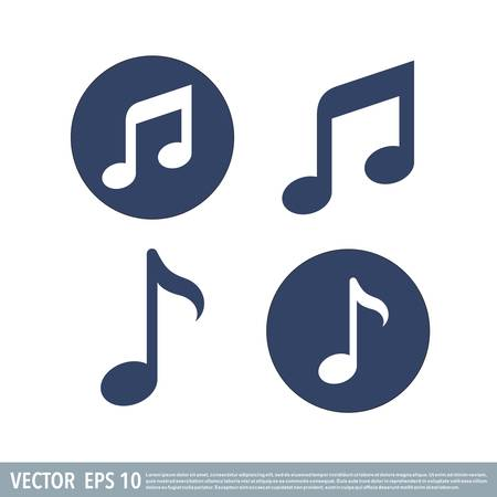 Musical note icon vector template