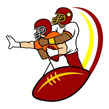American Football vector logo template Illusztráció