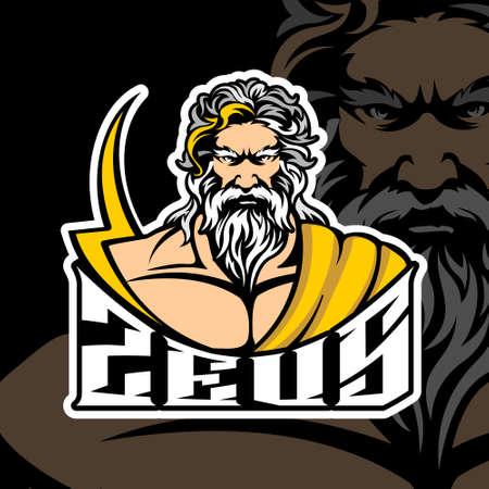 Zeus  Esports vector template Illusztráció