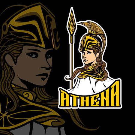 Athena Esports vector template Illusztráció
