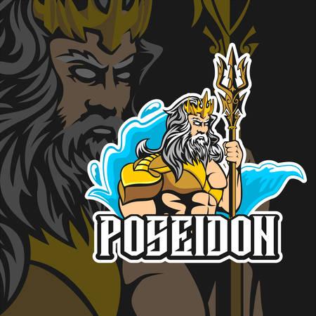 Poseidon  Esports vector template