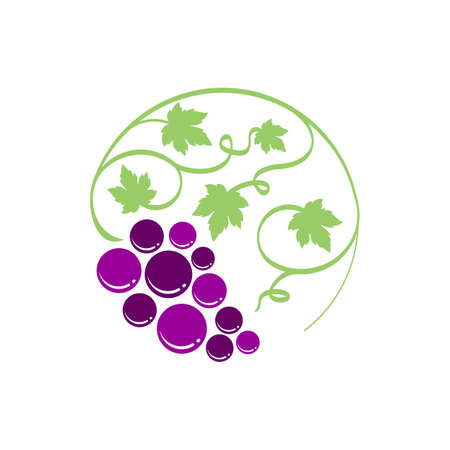 simple grape logo vector template