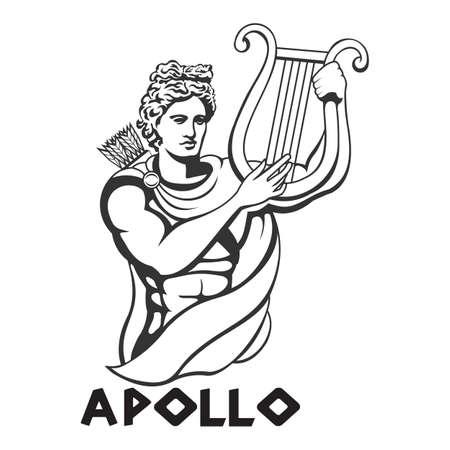 illustration of Apollo vector template