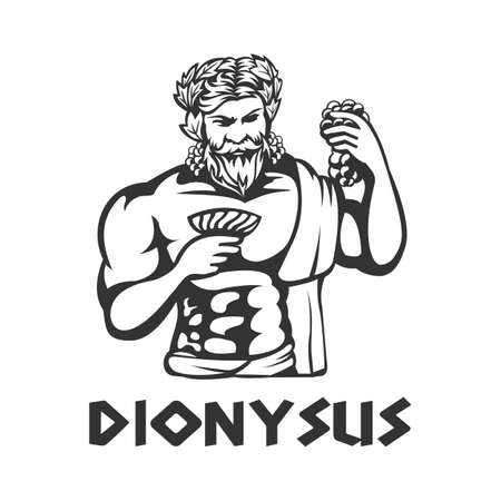 illustration of Dionysus vector template