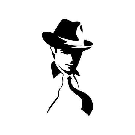 mafia vintage logo vector silhouette
