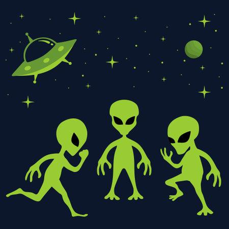 alien vector template