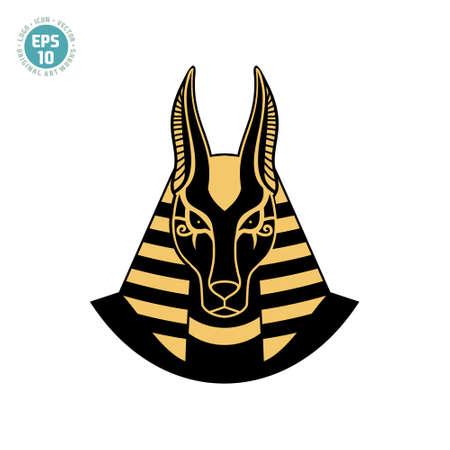 Ancient egyptian god Anubis illustration vector. Illusztráció
