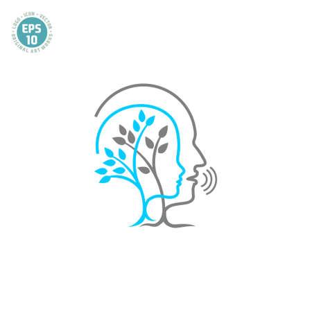 speech therapy logo vector template Illusztráció