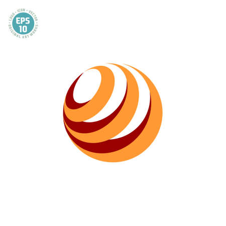 solid color circle abstract logo
