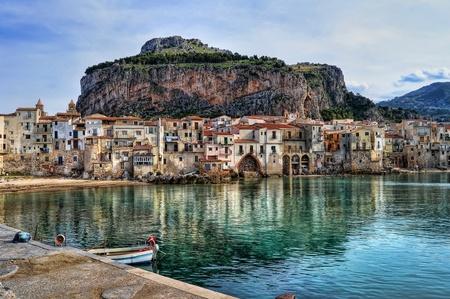 Bay in Cefalu, Sicily Reklamní fotografie