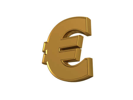 3d render of euro Stock Photo