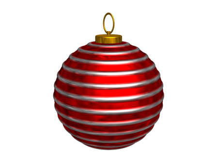 3d render of christmas tree ornament