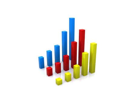 3d chart Stock Photo