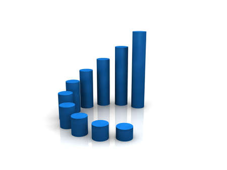 population growth: 3d chart Stock Photo