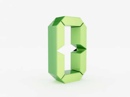 3D rendering of the number 0