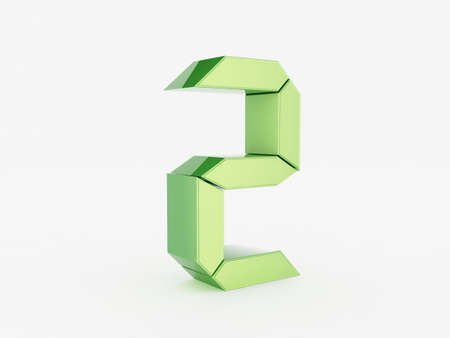 3D rendering of the number 2