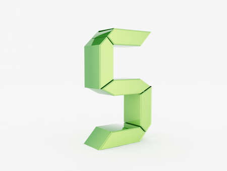 3D rendering of the number 5