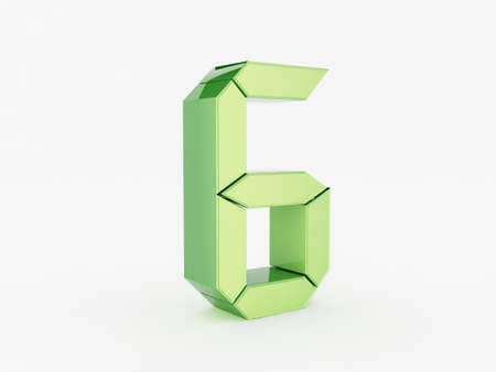 3D rendering of the number 6 Stock Photo