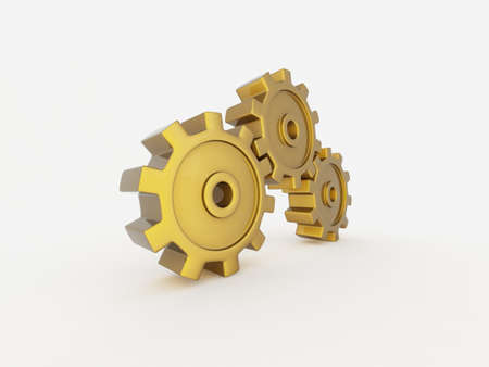 Gold gears  Stock Photo