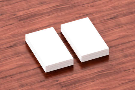 Business cards blank mockup - template, 3D illustration Stock Photo
