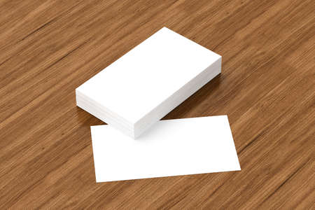 businesscard: Business cards blank mockup - template, 3D illustration Stock Photo