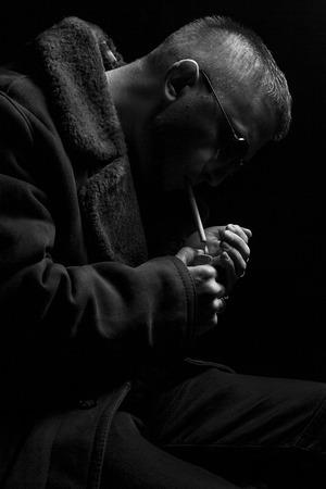 In love sad boy smoking Marijuana: What