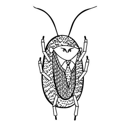 illustration. cockroach for rent Vetores