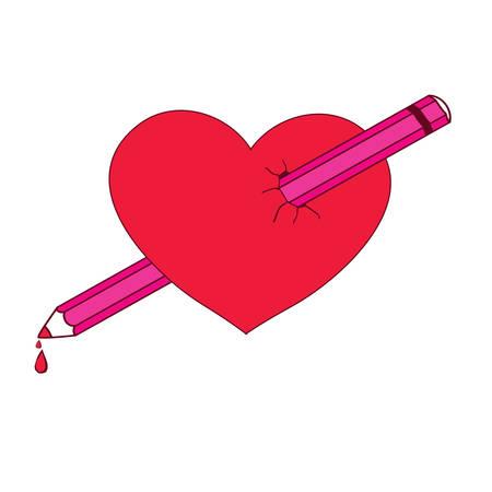 the human heart: La imagen original del coraz�n traspasado. La idea para el logotipo o pegatinas