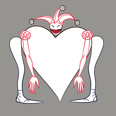 pierrot: colored vector illustration for Valentines Day