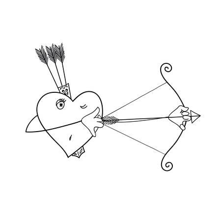 stalker: the heart of the hunter. heart vector background