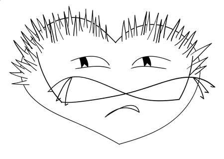 secretive: Image offended prickly like a hedgehog hearts Illustration