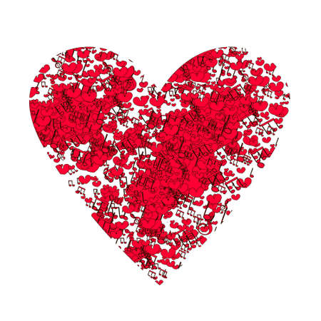 That's a great picture for a t-shirt. Isolated heart on white. Design for wedding card, Valentine card, save the date.