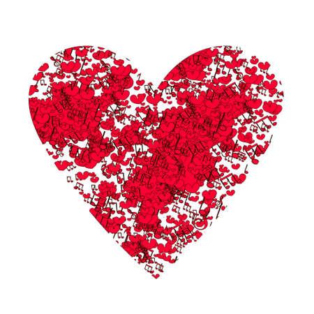 T シャツの素晴らしい画像です。白の心臓。ウェディング カード、バレンタイン カードのデザインは、日付を保存します。