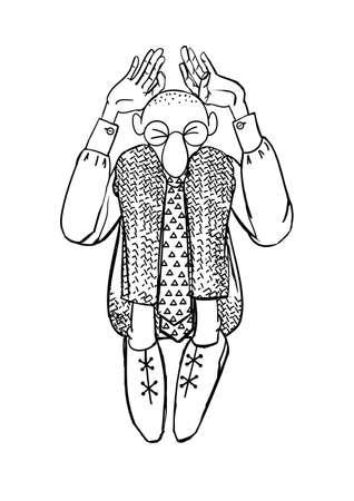 introverted: Clerk vector. Stock vector illustration