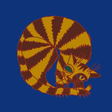 tabby cat: tabby cat illustrations