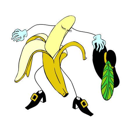musketeer: Banana musketeer colored illustration Illustration