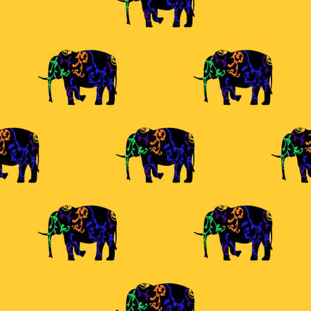 tusks: Seamless pattern  Art Deco  Baroque and Oriental ornaments.