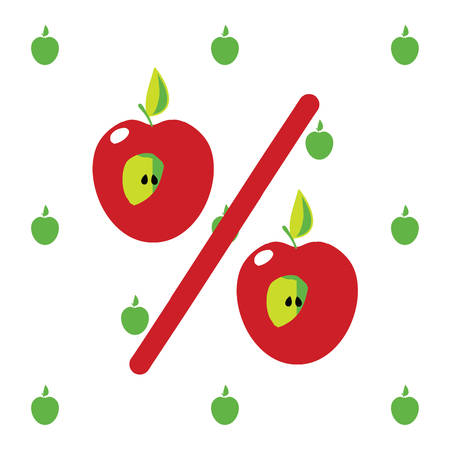 red apple: Red Apple. Cute funny  color vector illustration Illustration
