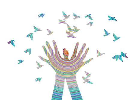 Nette lustige Farbe Vektor-Illustration, Bild für Web-Design oder Drucken