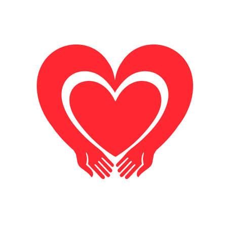 caring hands: Illustration for Valentines Day Illustration