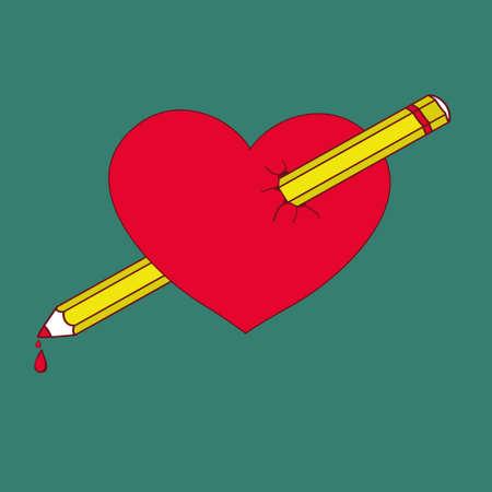 poke: vector illustration for Valentines Day