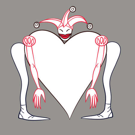 colored vector illustration for Valentines Day