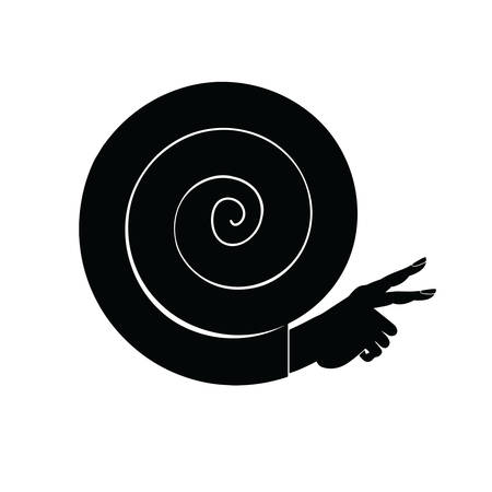 cochlea: Thin Line and Flat. Editable vector illustration - silhouette, multi-purpose