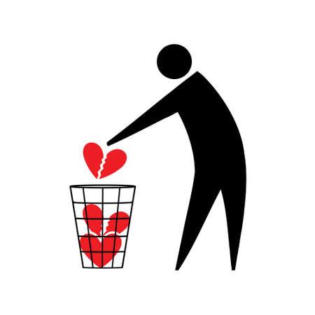 Broken heart. Illustration