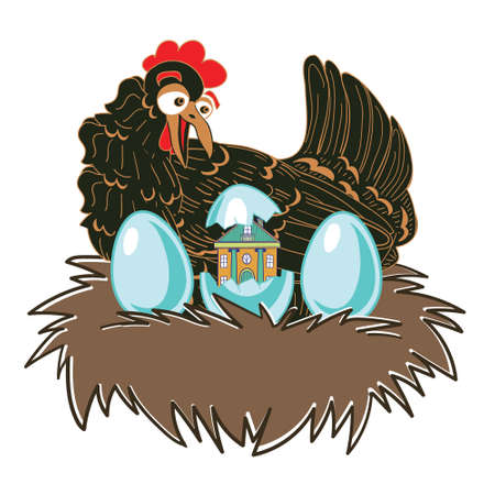 Funny original vector illustration with a large range of applications