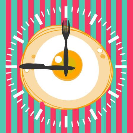Concept for breakfast menu, cafe, restaurant. Logo design template. Food background