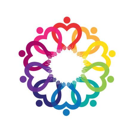 Unité et solidarité. Élément de vecteur pour votre créativité