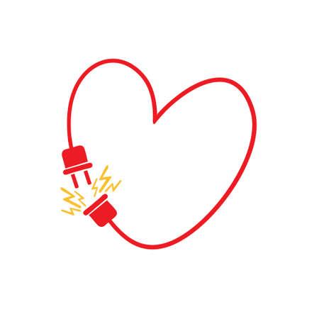 Love connection concept. Original vector illustration handmade Illustration