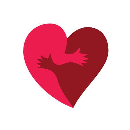 Illustration der Schablone für Valentinstag