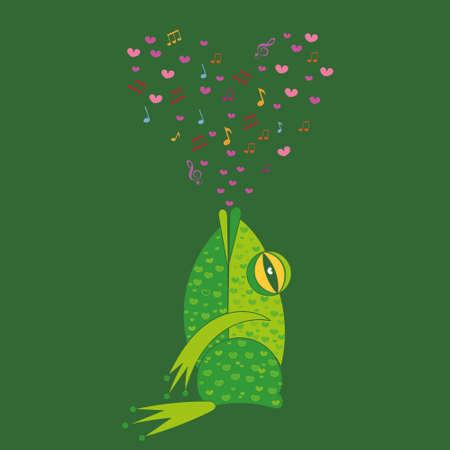 Singing frog.